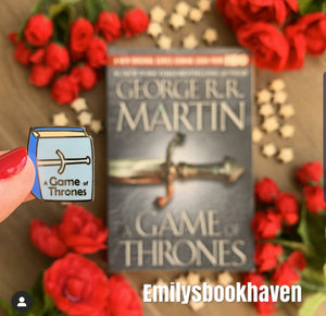 May Pin Club Leftover Game of Thrones Book Enamel Pin