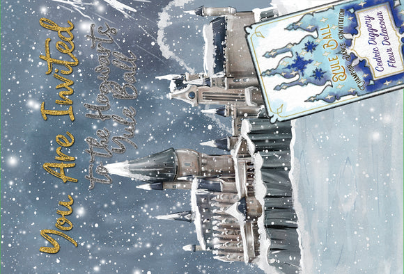 Harry Potter Christmas Yule Ball Invitation 4x6 Print
