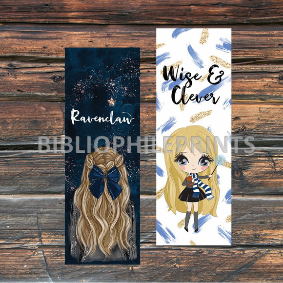 Ravenclaw Girl Double Sided Bookmark - Blonde