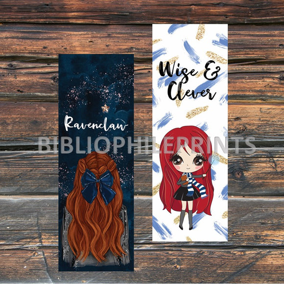 Ravenclaw Girl Double Sided Bookmark - Red Head