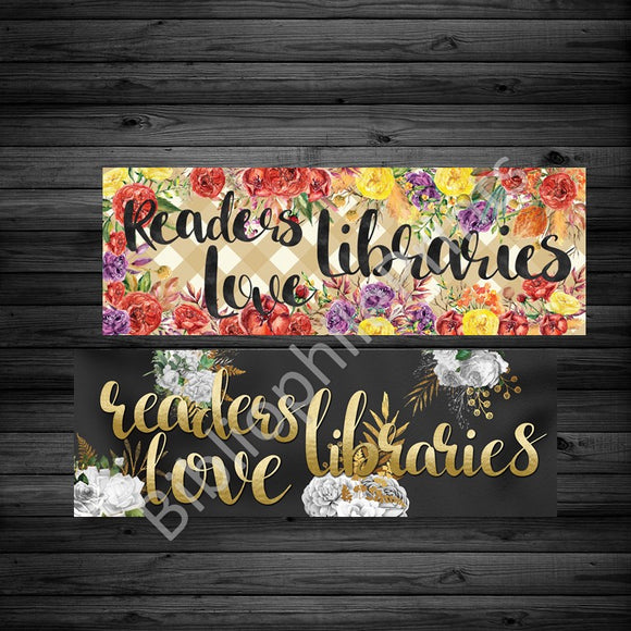 Readers Love Libraries Double Sided  Bookmark