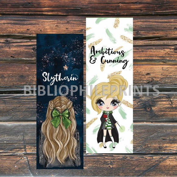 Slytherin Girl Double Sided Bookmark - Blonde