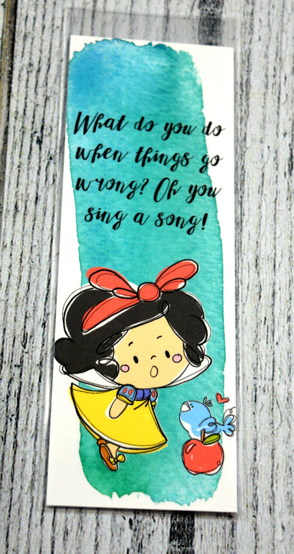 Snow White Bookmark -Blue