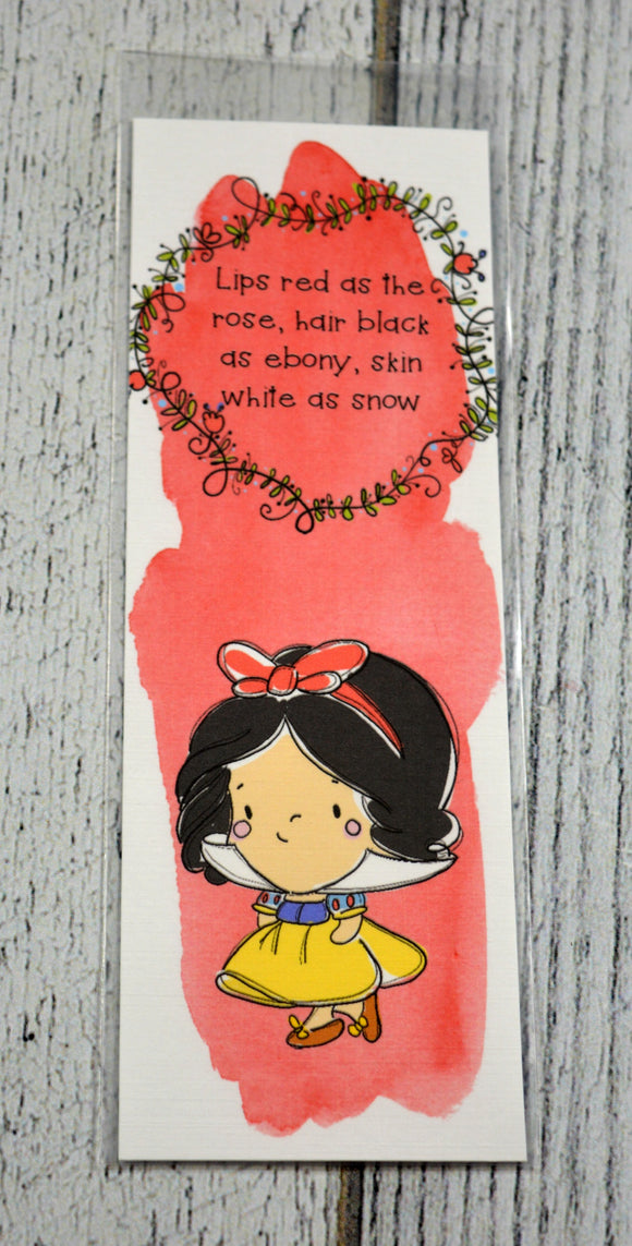 Snow White Bookmark - Red