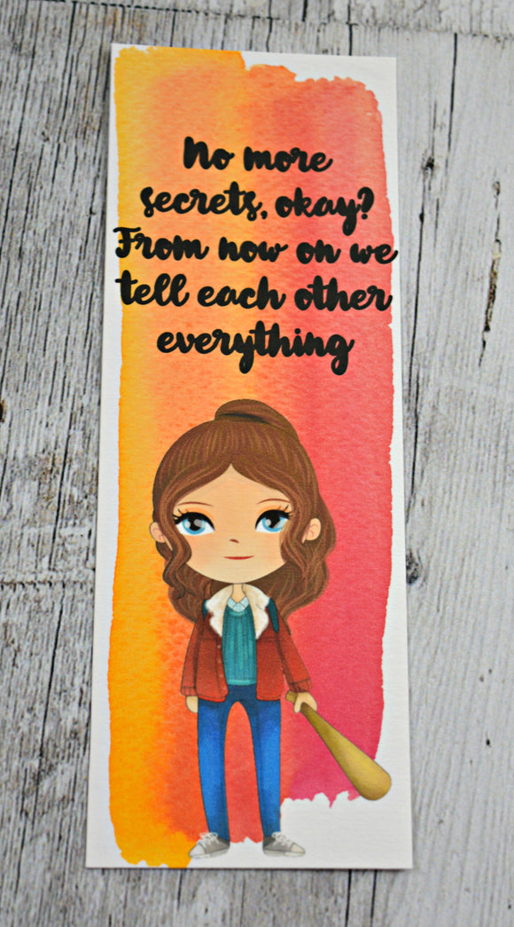 Stranger Things Nancy Quote Bookmark