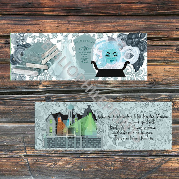 The Haunted Mansion Disney Double Sided Bookmark