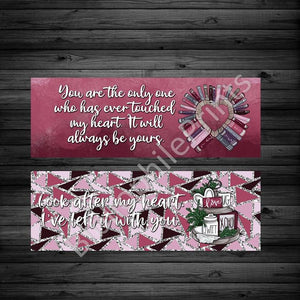 Valentine's Twilight Double Sided Bookmark - bibliophileprints