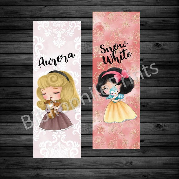 Aurora and Snow White Double Sided Bookmark
