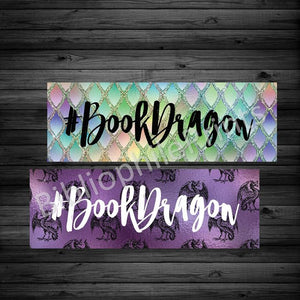 #BookDragon Double Sided Bookmark - bibliophileprints