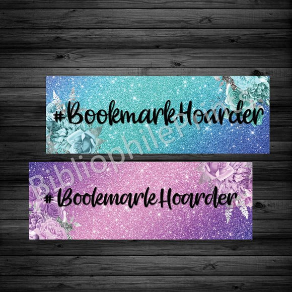 #BookmarkHoarder Double Sided Bookmark - bibliophileprints
