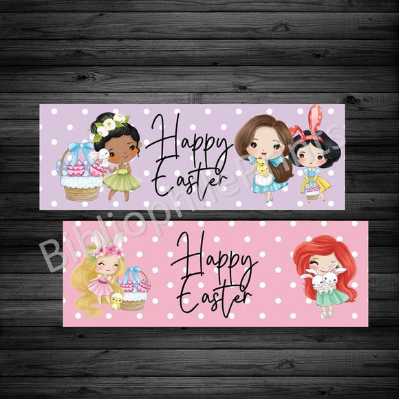Happy Easter Princesses Double Sided Bookmark