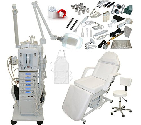 22 in 1 Elite Series Multifunction Diamond Microdermabrasion Facial Machine & Adjustable Electric Bed Table Chair Salon Spa Beauty Equipment