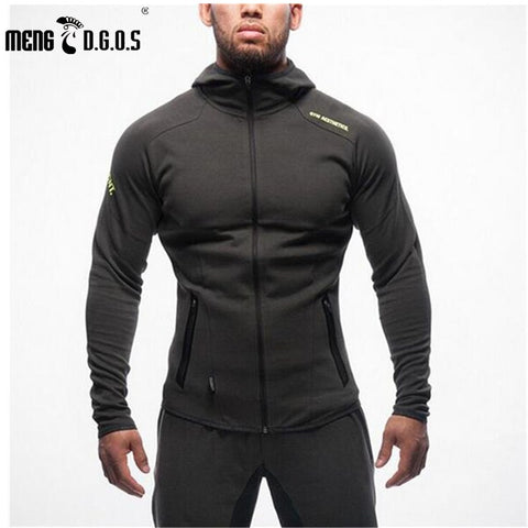 2017 New Mens Bodybuilding Hoodies Brand-clothing Workout Shirts Hooded Tracksuit Men Chandal Hombre Gorilla wear Animal