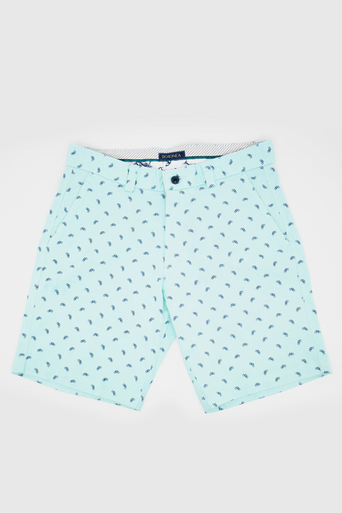 Blue Bicycle Bermuda Short - Boronea