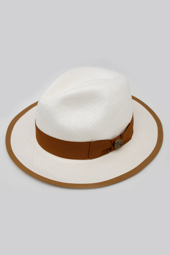Half Wing Casablanca Brown Hat - Boronea