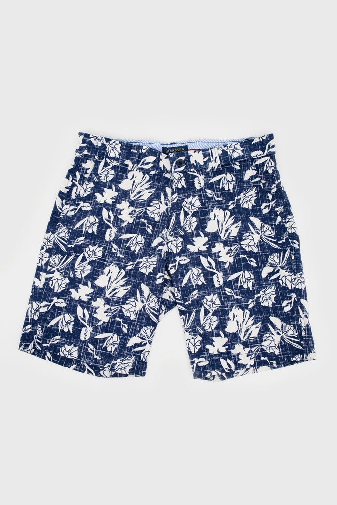 Blue Flowers Bermuda Short - Boronea