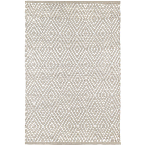 Diamond Platinum/White 6X9 Area Rug Indoor/Outdoor