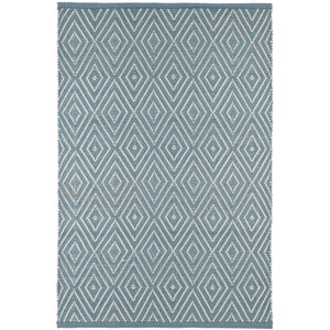 Diamond Slate/Light Blue 5X8 Area Rug Indoor/Outdoor