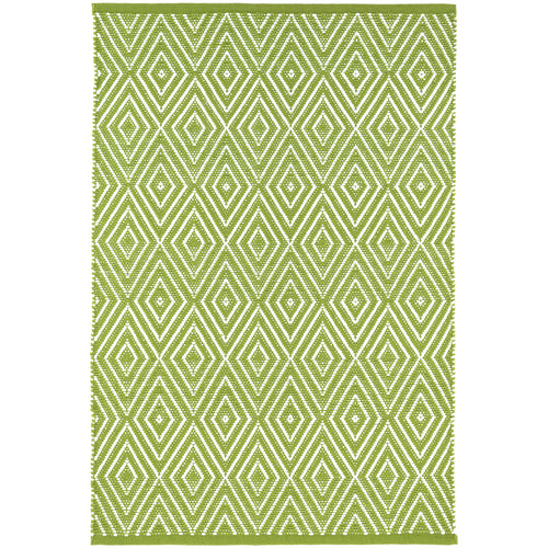 Diamond Sprout/White 5X8 Area Rug Indoor/Outdoor