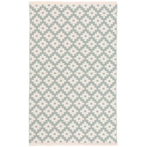 Samode Light Blue/Ivory 5X8 Area Rug Indoor/Outdoor
