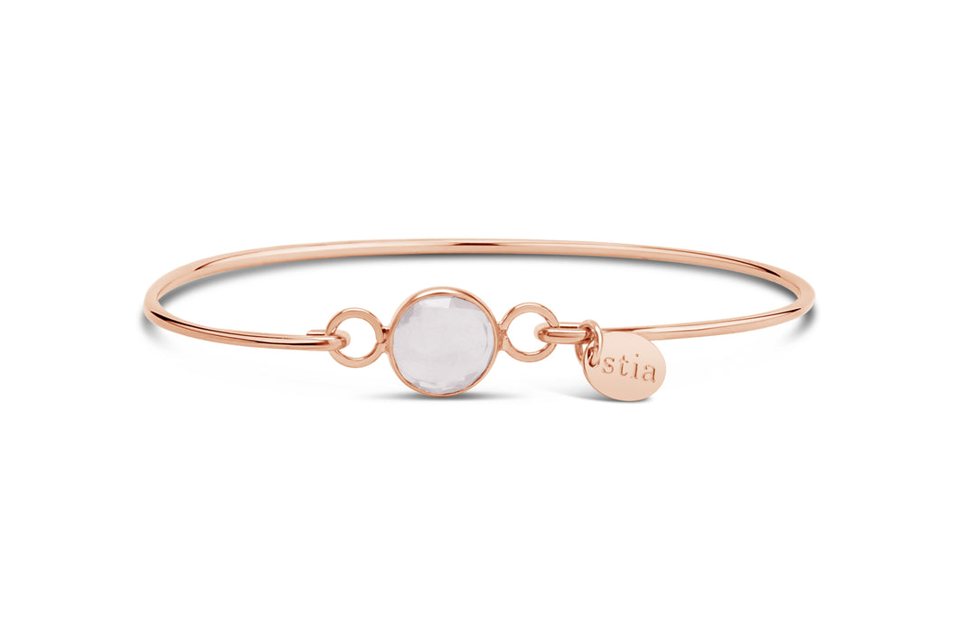 Rose Gold Bracelet Signature Skinny Morganite