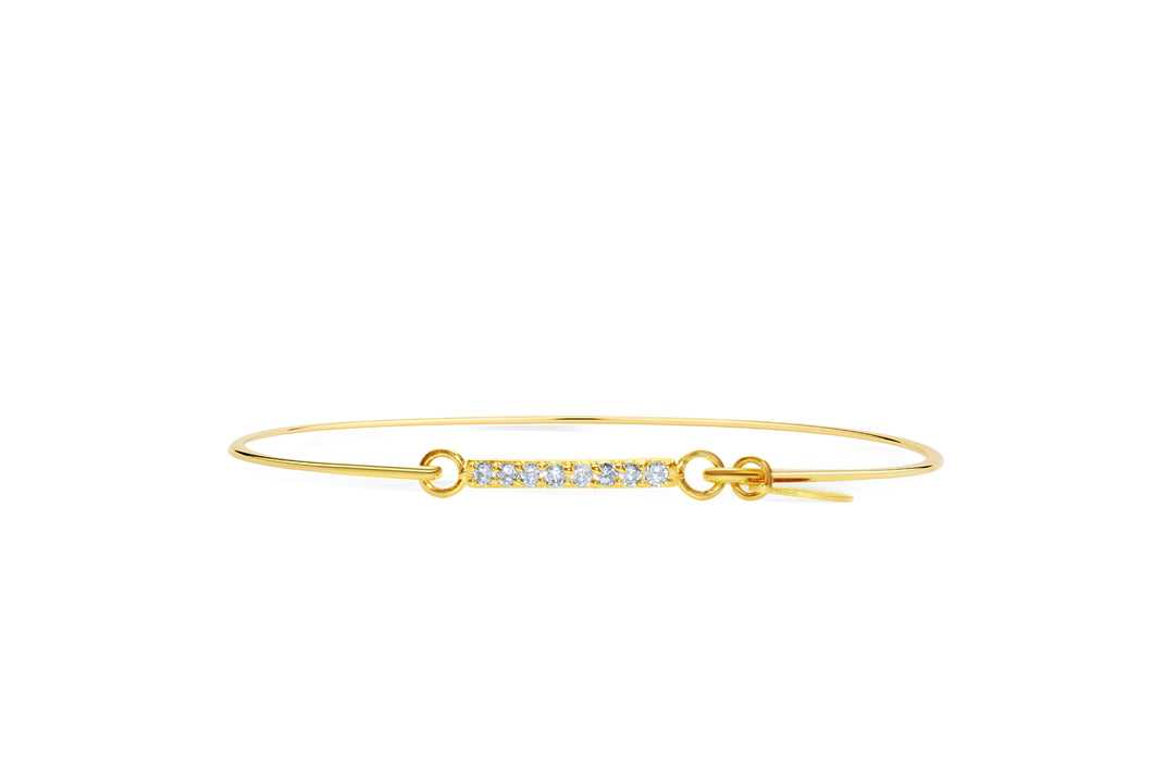 Pavé Icon Bar Bracelet