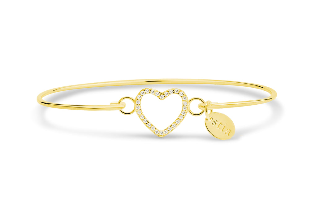 Pavé Icon Bracelet Open Heart