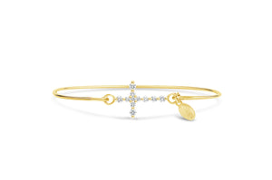 Pavé Icon Bracelet Diamond Prong Cross
