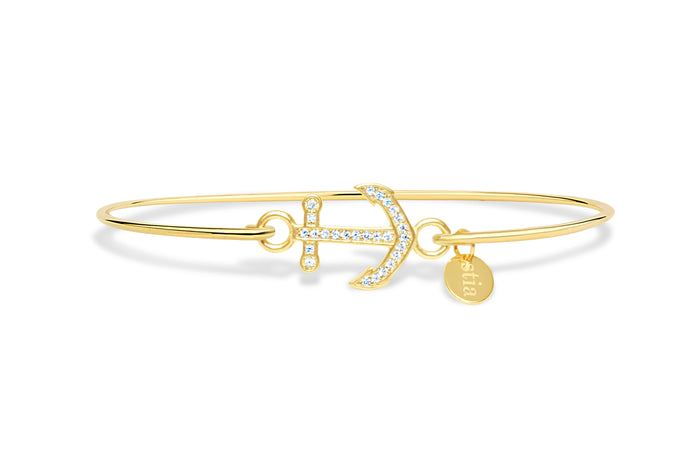 Stia by the Sea Pavé Anchor Bracelet