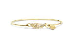 Pavé Icon Bracelet Wing