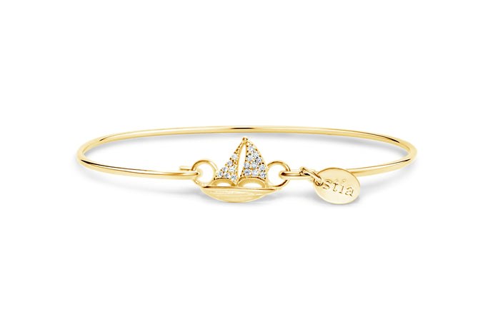 Stia by the Sea Pavé Sailboat Bracelet