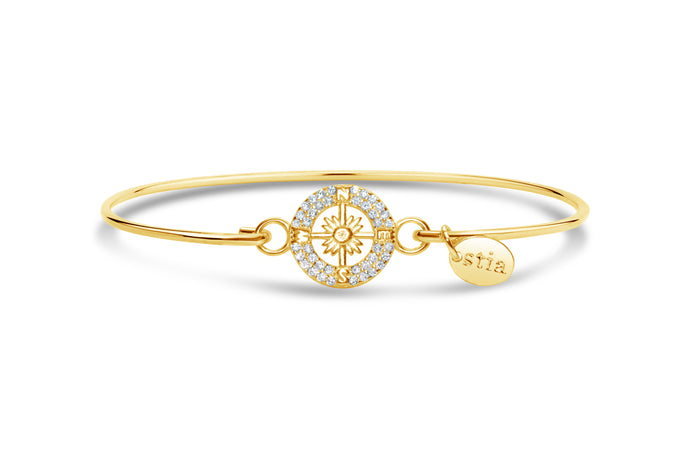 Stia by the Sea Pavé Compass Bracelet