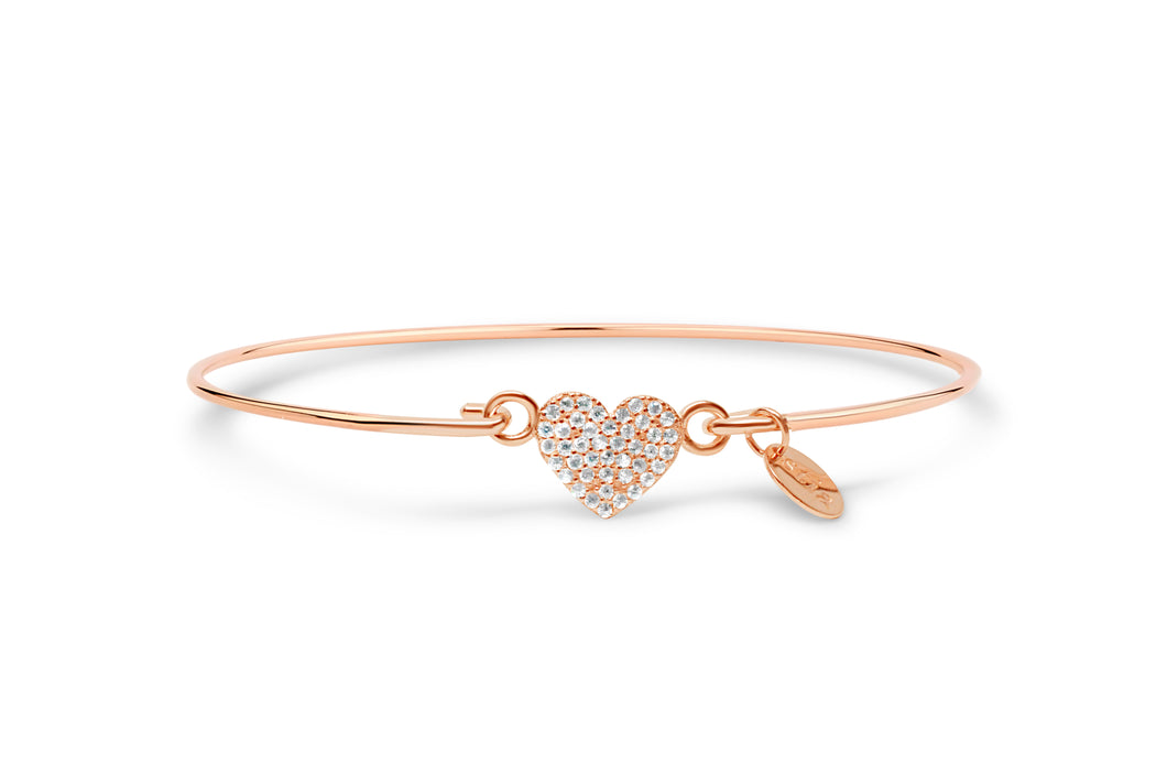 Rose Gold Bracelet Heart