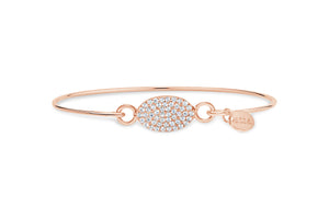 Rose Gold Bracelet Pavé Oval