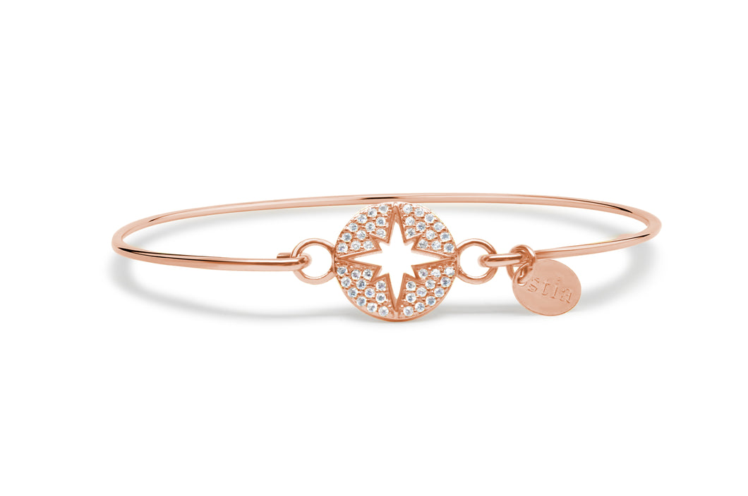 Rose Gold Bracelet Pavé North Star