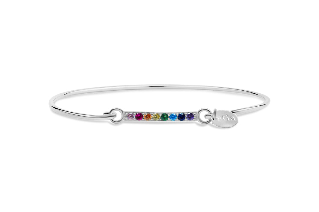Pavé Icon Bracelet Rainbow Bar