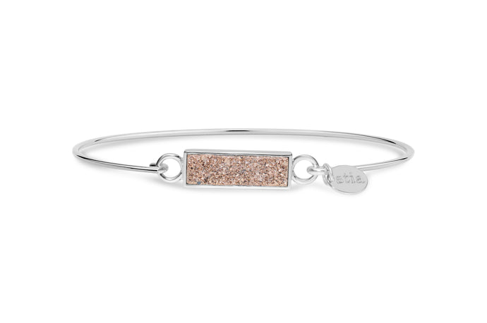 Druzy Sparkle Bracelet Rose Gold Bar
