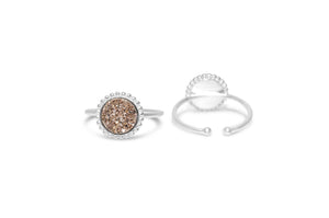"Druzy Sparkle ""It Fits"" Ring Rose Gold"