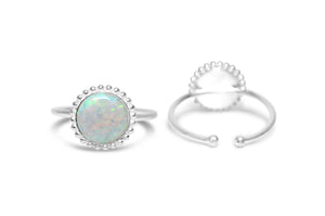 White Opal It Fits! Ring