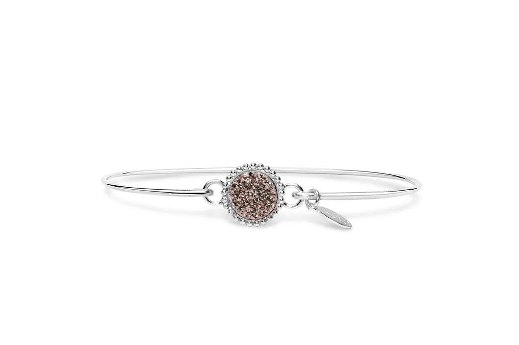 Druzy Sparkle Bracelet Rose Gold Mini