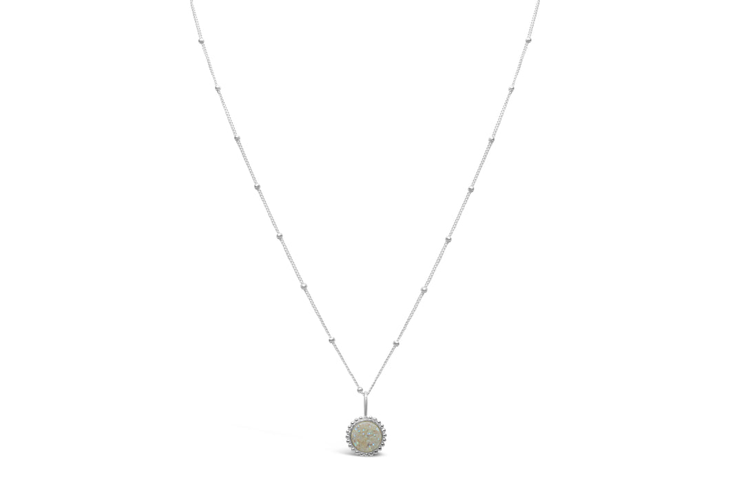 Druzy Sparkle Opal Mini Necklace