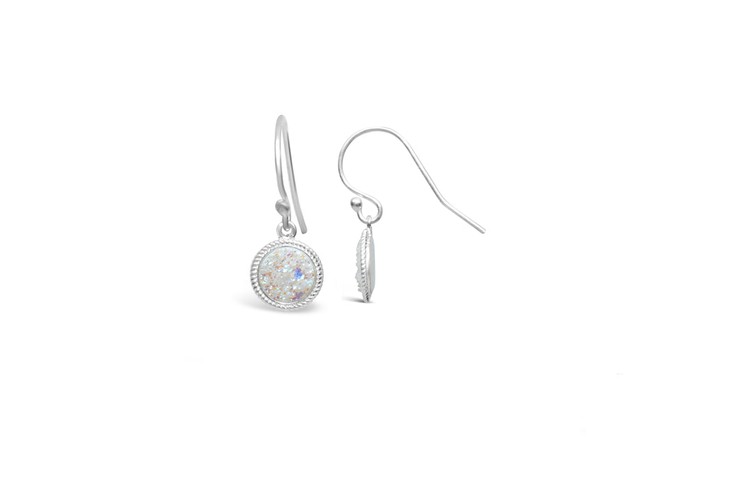 Druzy Sparkle Earring Opal French Hook