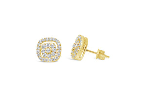 """Dress Up"" Earring Gold Pavé-Pavé"