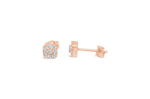 """Dress Up"" Earring Rose Gold Pavé-Pavé"