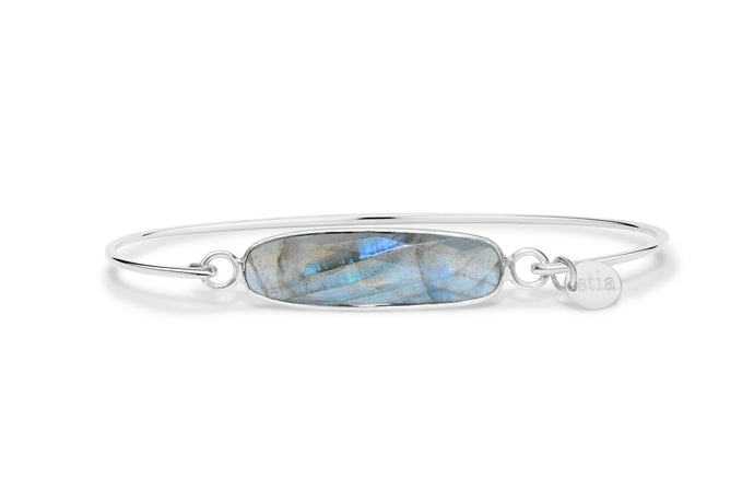 Gemstone Bar Bracelet Labradorite