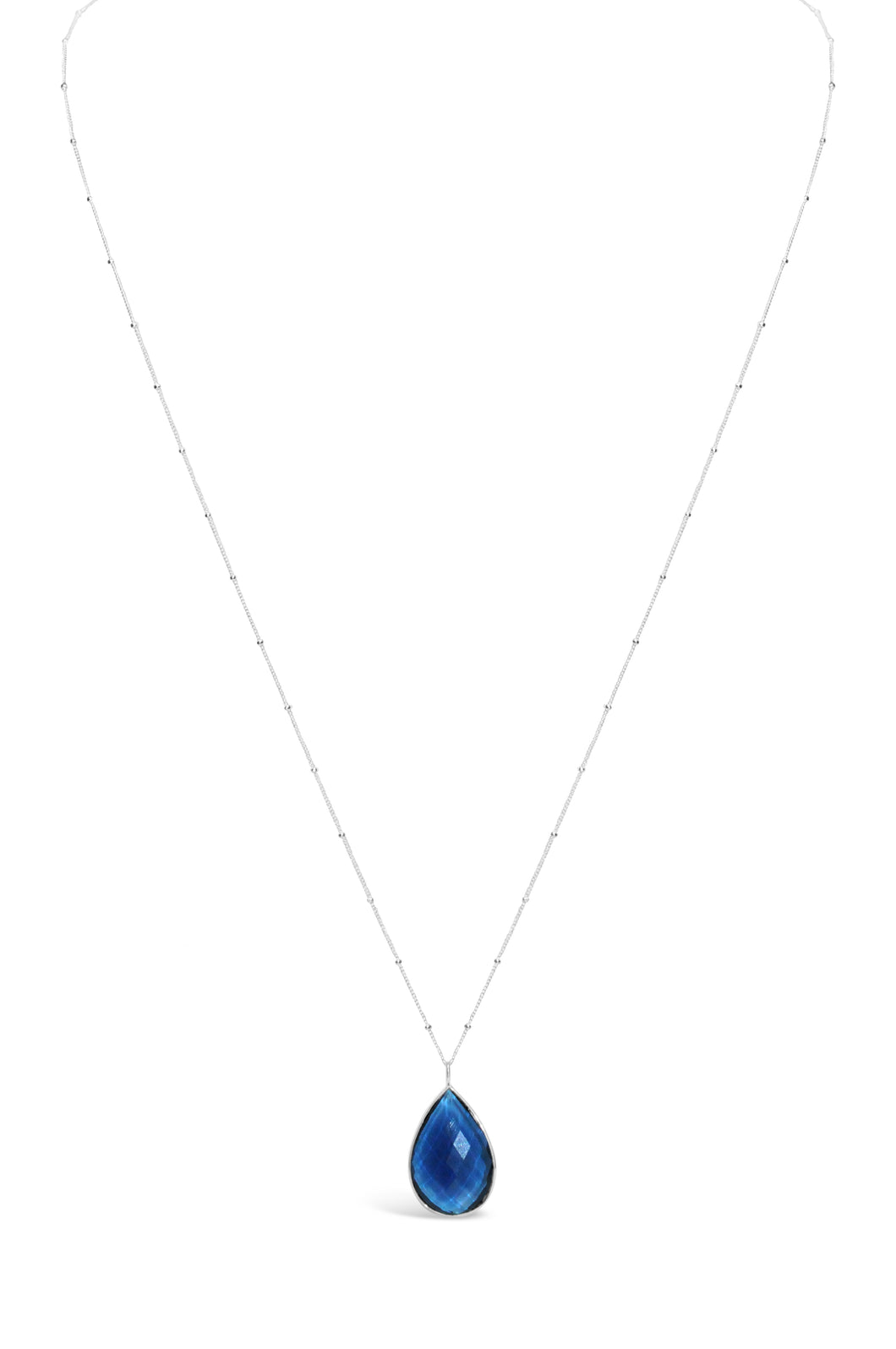 Layered & Long Necklace London Blue
