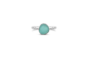 Stia by the Sea Aqua Sea Glass Ring