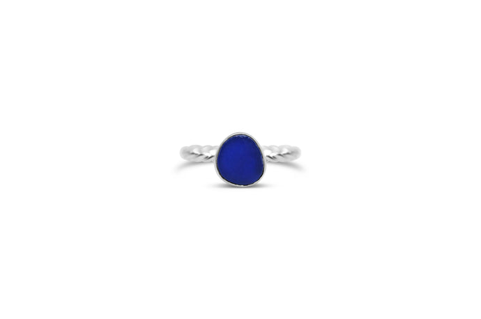 Stia by the Sea Cobalt Sea Glass Ring