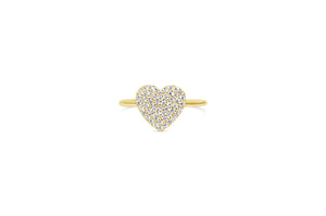 "Pavé Icon ""It Fits"" Ring Heart"