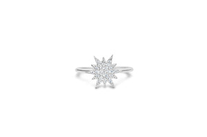"Pavé Icon ""It Fits"" Ring Starburst"